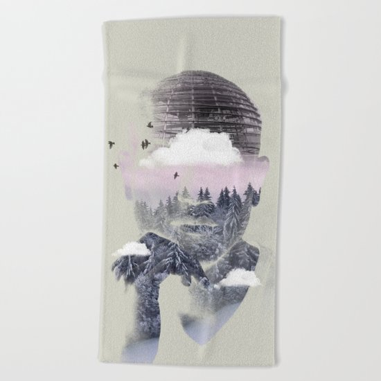 Contemplating Dome Beach Towel