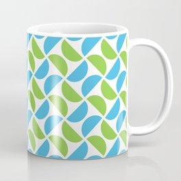 HALF-CIRCLES, GREEN AND BLUE Coffee Mug