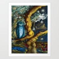 A Wise Owl  Art Print