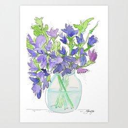 Sweet Pea Flowers Art Print