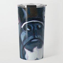 Boxer Lil E Dog Portrait Travel Mug