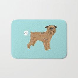 Brussels Griffon dog breed funny dog fart Bath Mat