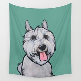 Levi the Miniature Schnauzer Wall Tapestry