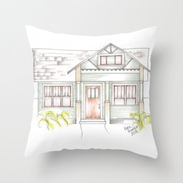 Green Craftsman Throw Pillow