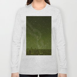 The sky and horizon above Paris Illustration from Le ciel; notions élémentaires d'astronomie physi Long Sleeve T-shirt