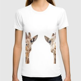 Funny Giraffe Portrait Art Print, Cute Animals, Safari Animal Nursery, Kids Room Poster, Wall Art T-shirt