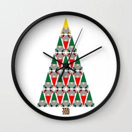 Elf Xmas Tree Wall Clock