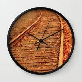 AUTUMN RAILS Wall Clock