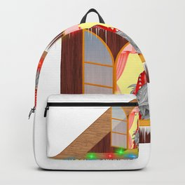 Christmas Gnome House Backpack