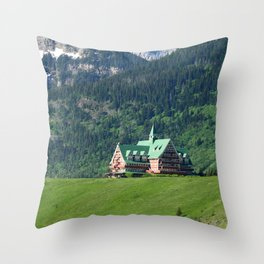 Prince of Wales Hotel in Waterton Lake Park Throw Pillow