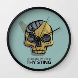 Death where is thy sting Wall Clock