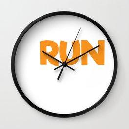Sarcastic Runner Rise and Run Wall Clock