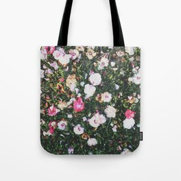 Golden Hour Flowers Tote Bag