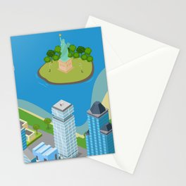 Helicopter tour of New York City II. Stationery Cards