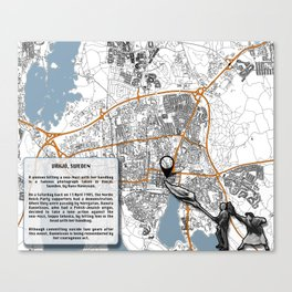 Atlas of Inspiring Protests; VÄXJO Canvas Print