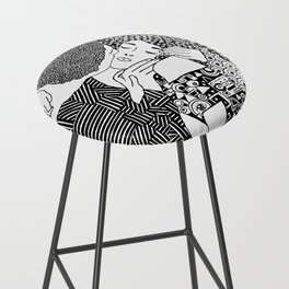 Gustav Klimt - The kiss Bar Stool