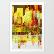 Reflection of a city Art Print