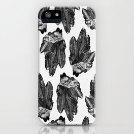 gray skies crystal cluster iPhone Case