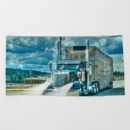 The Cattle Truck Beach Towel
