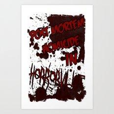 HorrorVille 13 B-movie flyer. Art Print