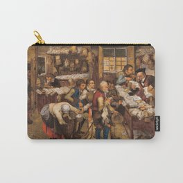 Pieter Brueghel The Younger - The Tax Collectors Office Carry-All Pouch