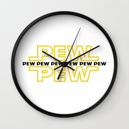 pew pew Wall Clock