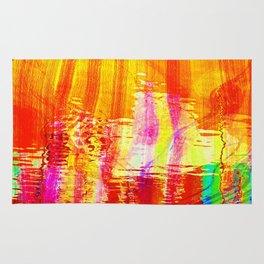 Burnt orange reflection on Lagoon Rug