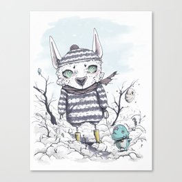 Exploring The Thaw Canvas Print