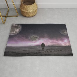 Sci-Fi collage On another planet 2 Rug