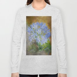Agapanthus in Blue Long Sleeve T-shirt