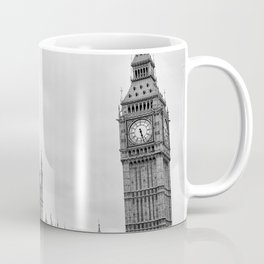 Westminster and Big Ben, London - Black and White Coffee Mug