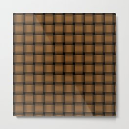 Brown Weave Metal Print