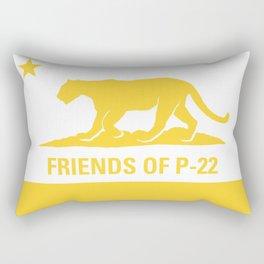 P-22 Yellow Rectangular Pillow