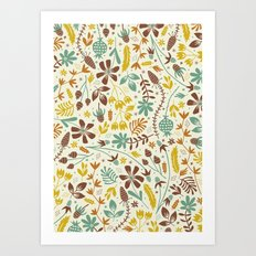 Autumn Blooms Art Print