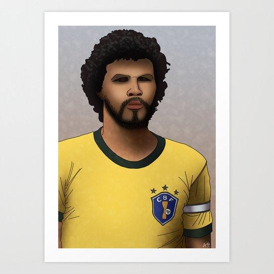 Socrates (Brazilian Footballer) Art Print