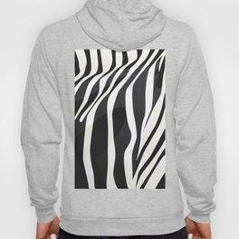 a zebra head portrait Hoody