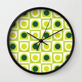 Geometric Pattern #210 (lime green) Wall Clock