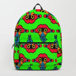 Mouth Tongue on Green  - L.O.B. Backpack