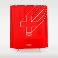 switzerland Shower Curtains featuring 0008 - Switzerland by FIFAMATIC
