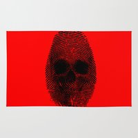 grand theft auto Area & Throw Rugs featuring Identity theft by Ismael Sandiego