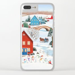 Snow Family Clear iPhone Case