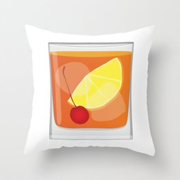 Old Fashioned Cocktail Throw Pillow