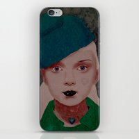 noir iPhone & iPod Skins featuring Noir by Eveline