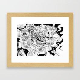 Rubber Neck Framed Art Print