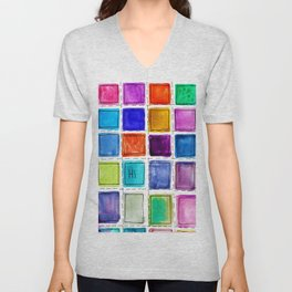 Colorful Design - Hi Unisex V-Neck