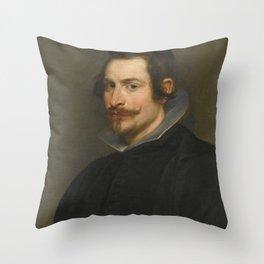 Vintage portrait of a Gentleman Throw Pillow