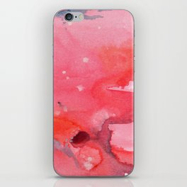 Watercolor Sunset in Coral iPhone Skin