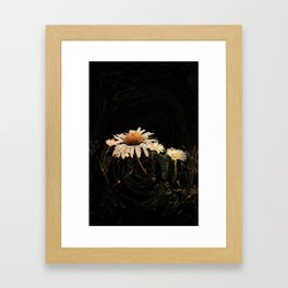 Camomile in pattern Framed Art Print