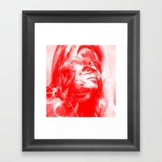Sharon Mix 12 red Framed Art Print