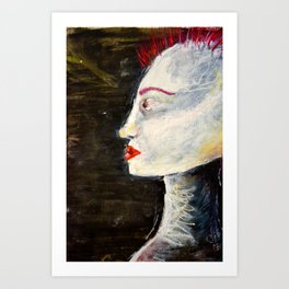 pale with mohawk  Art Print